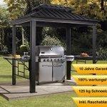 Sojag Aluminium Pavillon Überdachung BBQ Messina // 179×292 cm // Grillpavillon und Gartenlaube mit Hard-Top Dach und Abstellfläche