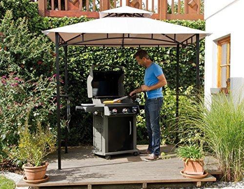 edler pavillon fuer grill oder terrasse grillpavillon mit abzug 240 x150 - edler Pavillon für Grill oder Terrasse Grillpavillon mit Abzug 240 x150